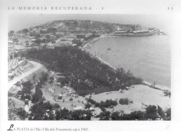 Playa de l'illa en 1960