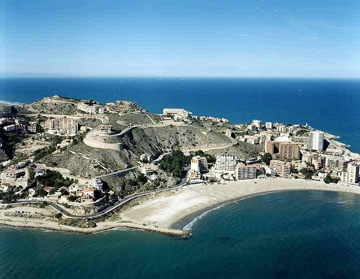 Espigón punta negra y playa de los Olivos Finales de los 90