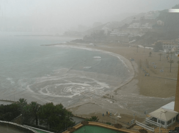 Temporal Faro de Cullera Playa de los Olivos