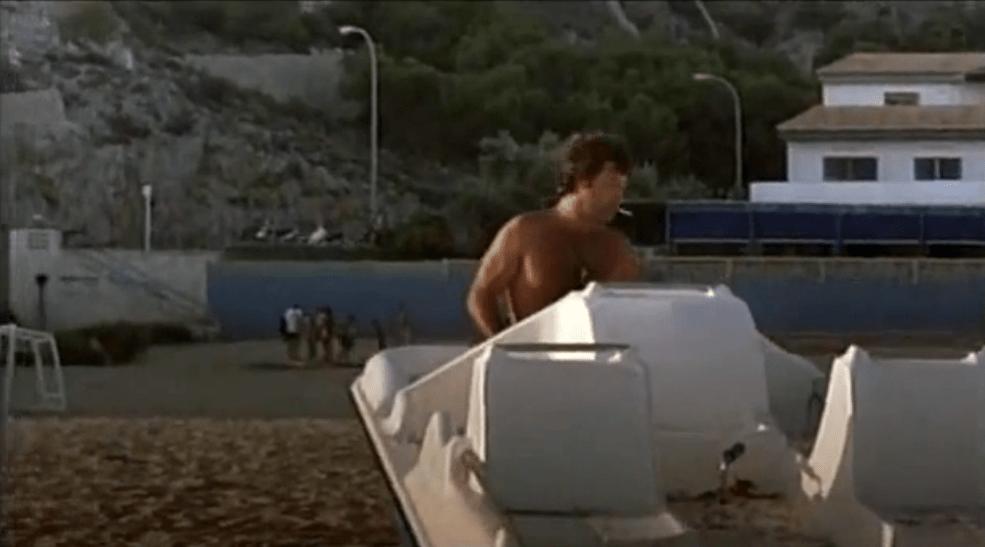 Jorge Perrugorría en la Playa de los Olivos