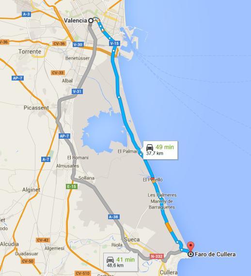 Cómo llegar al Faro de Cullera