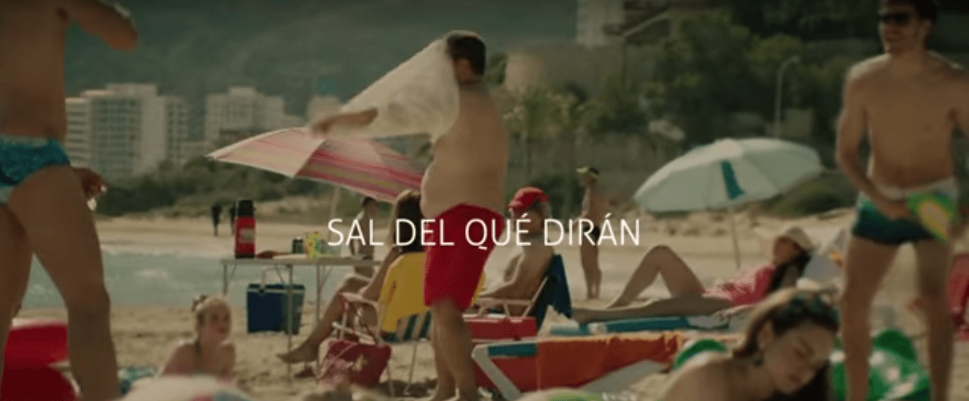 Plano de la playa de los Olivos en el anuncio de Multiopticas. 2016