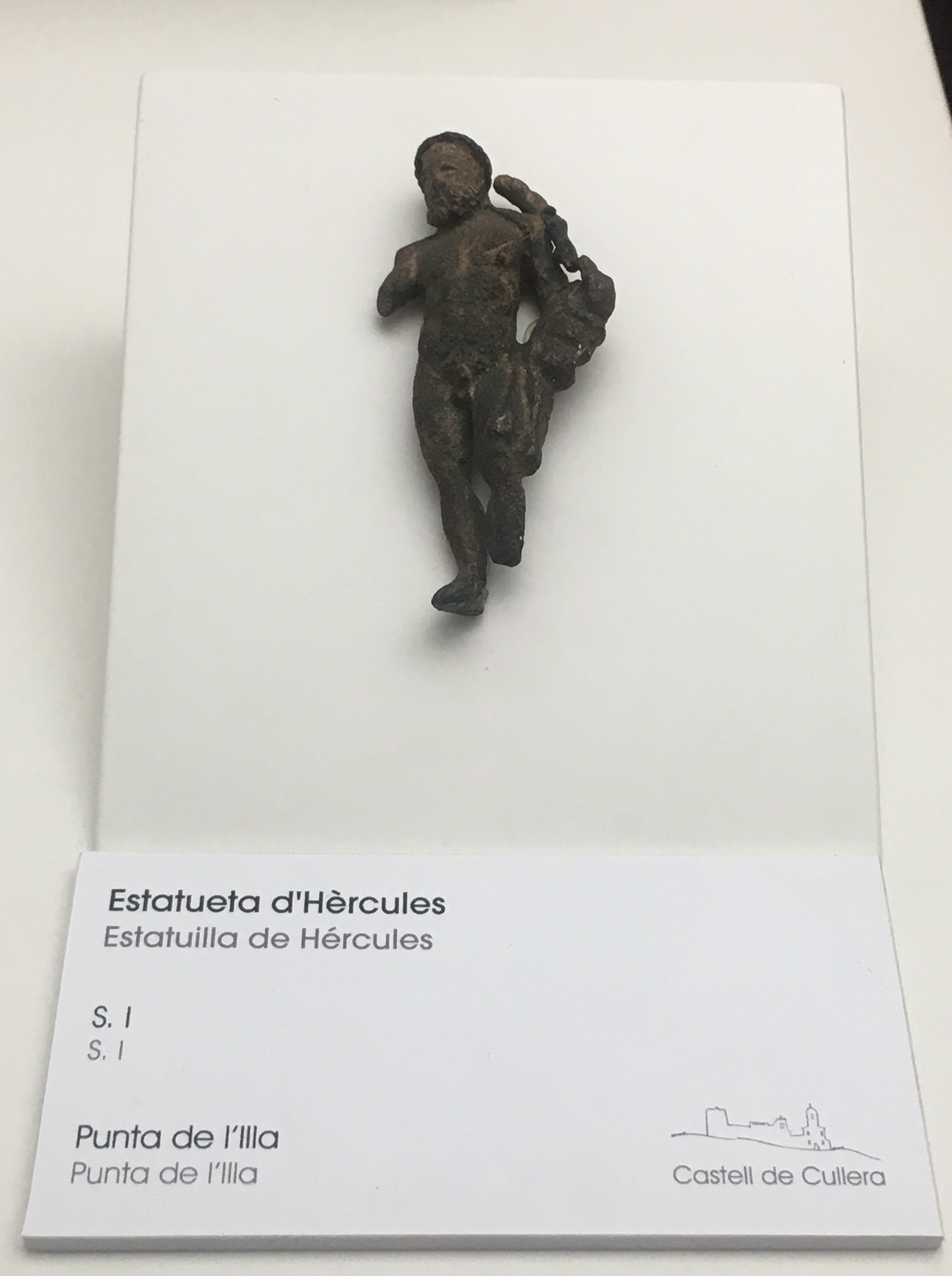 Figura de Hércules del yacimiento de punta de l'Illa