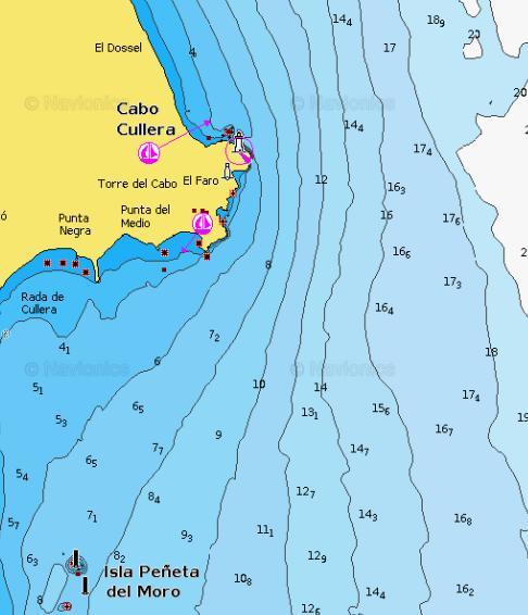 Carta Nautica Cabo de Cullera
