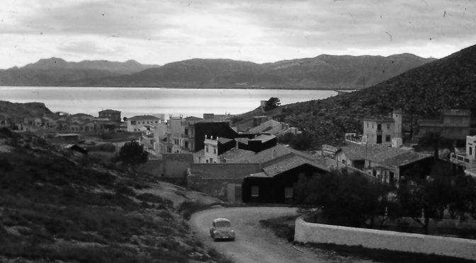 Fotogtafía antigua de la carretera de subida al Faro de Cullera