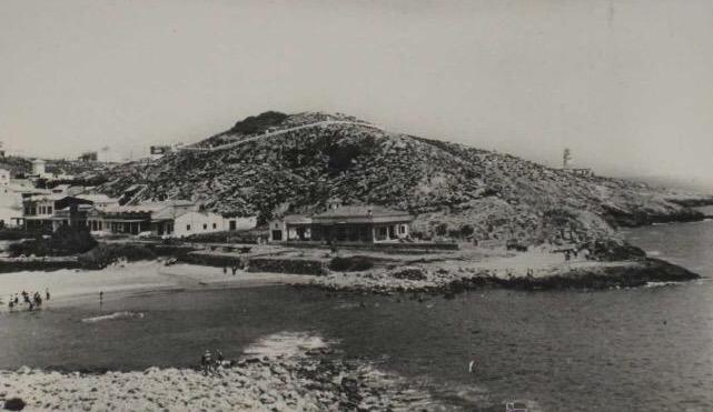 Chalet de la familia López en la Cala del Faro de Cullera