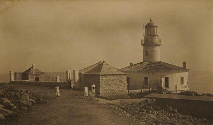 Faro de Cullera con su construcción original.
