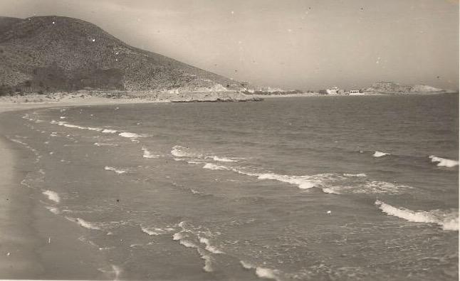 Punta Negra desde la playa de Cap Blanc de Cullera