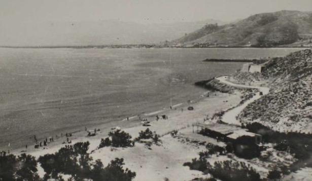 Playa de los Olivos de Cullera hacía la Punta Negra