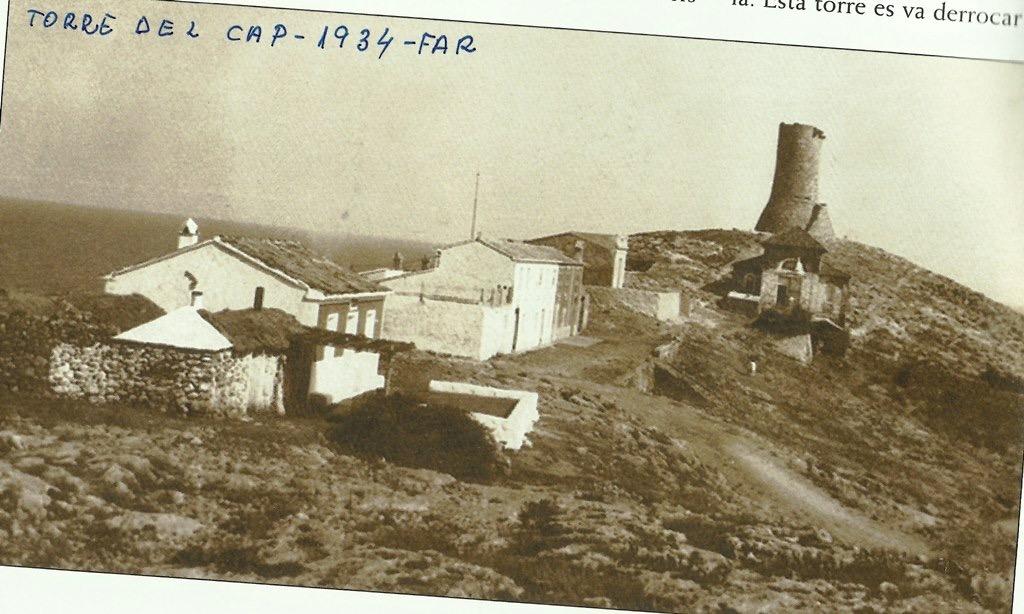 Fotografía de la Torre del Cap de Cullera en 1934