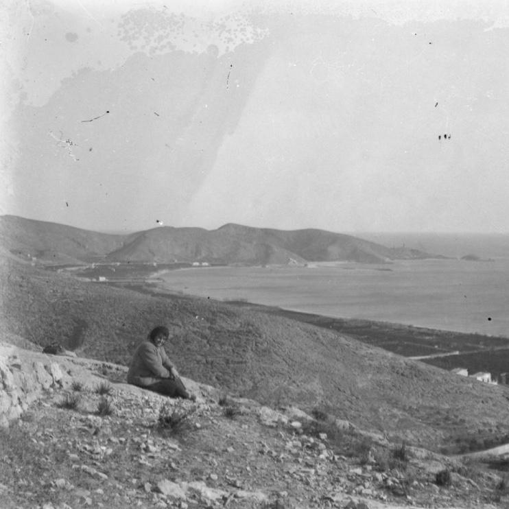 Fotografía antigua de la serra de les raboses de Cullera