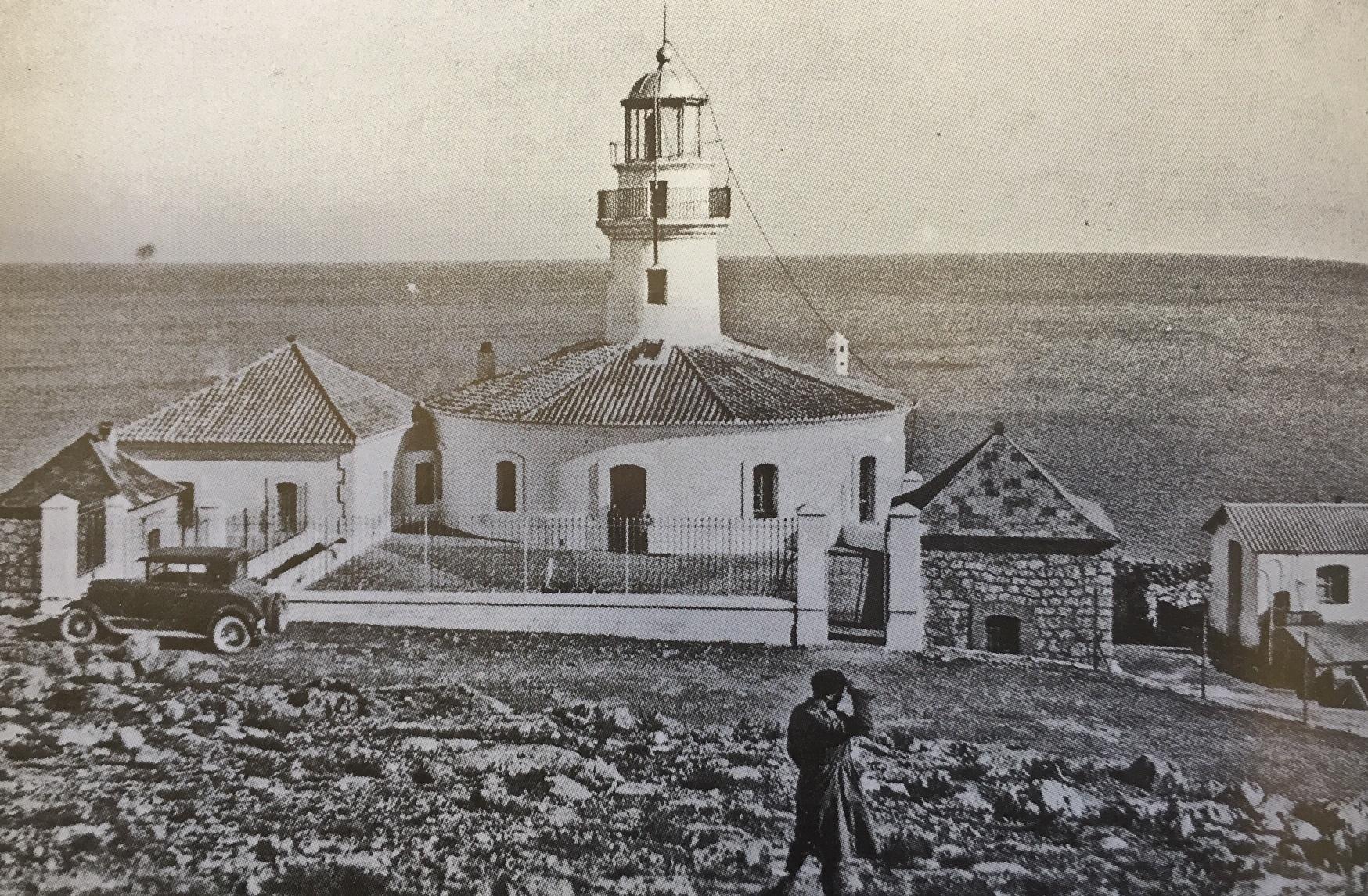 Vista del Faro de Cullera en una fotografía de principios de siglo XX