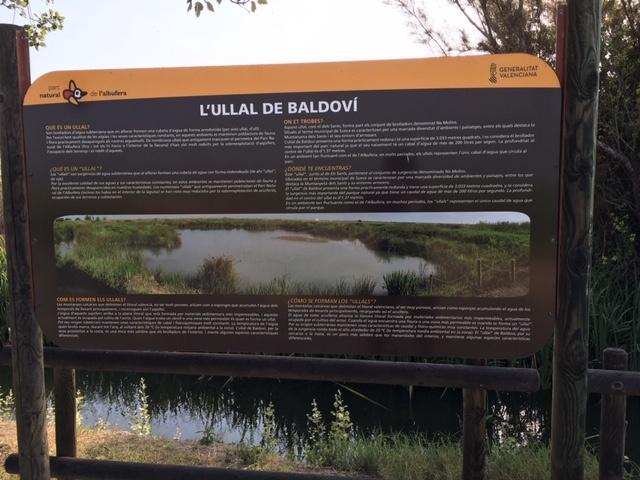 Panel información Ullal de Baldovi